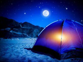 LED belysning på camping tur